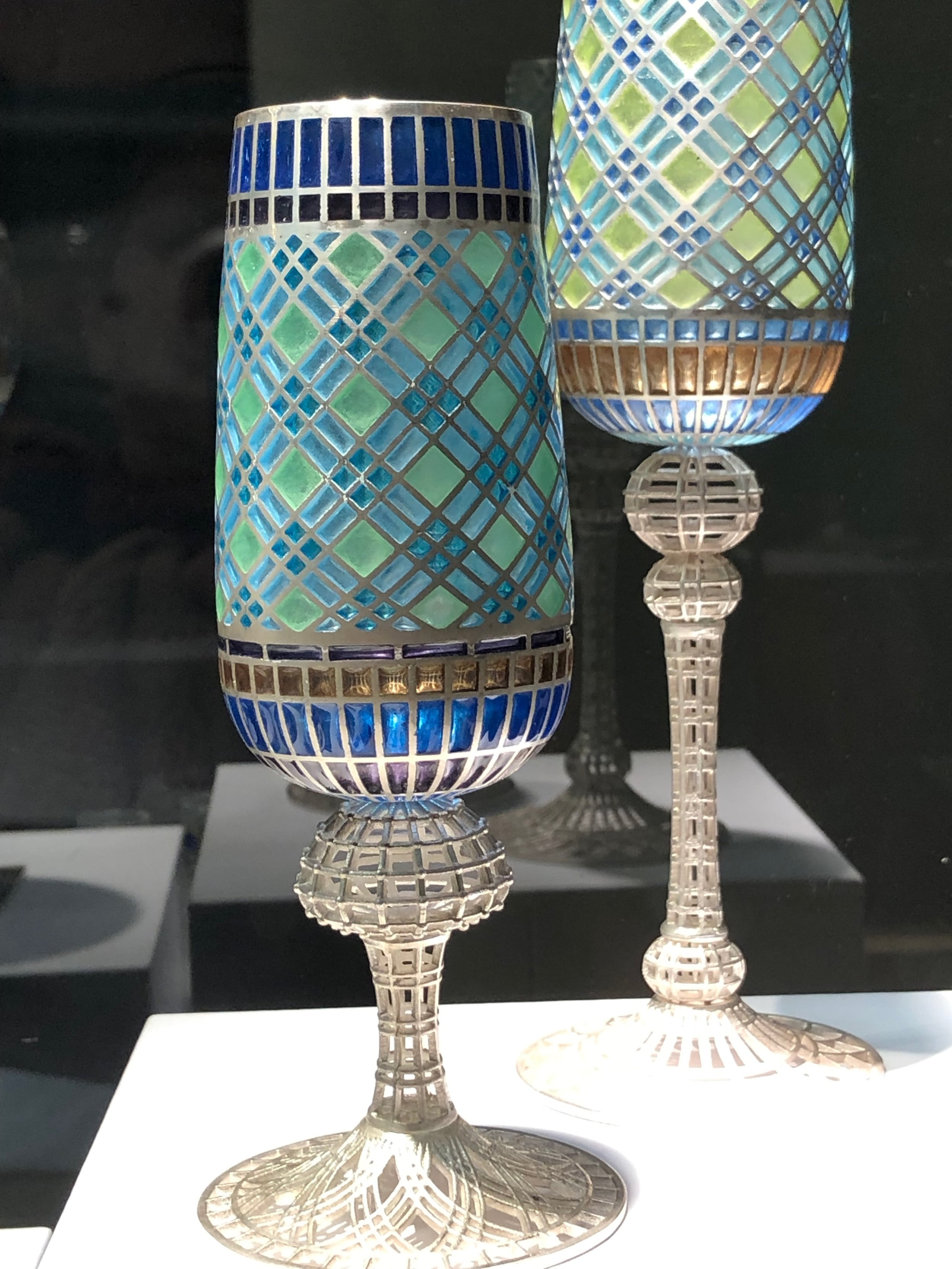 amy roper lyons's    mom explained her plique a jour process to me — way detailed — that she learned from an old russian master before he died. a future investment? gotta save up for these.
