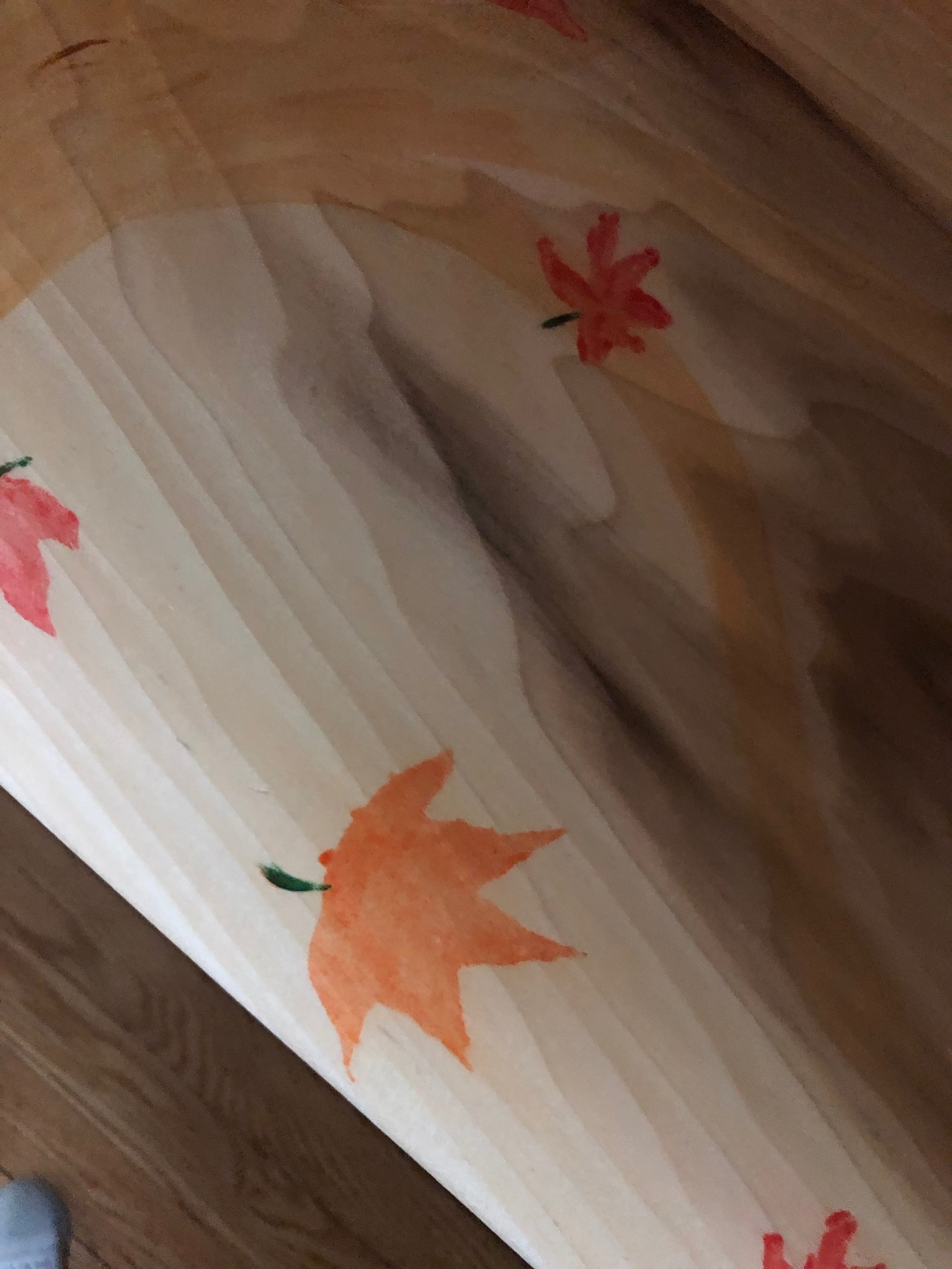 maple leaf theme mirrors the tree outside