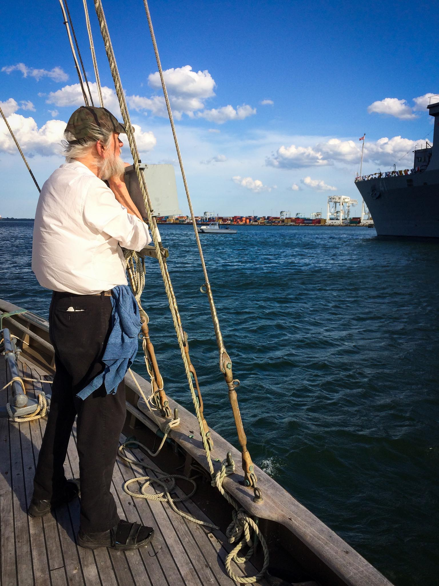 Looking over Boston Harbor, Sail Boston 2017