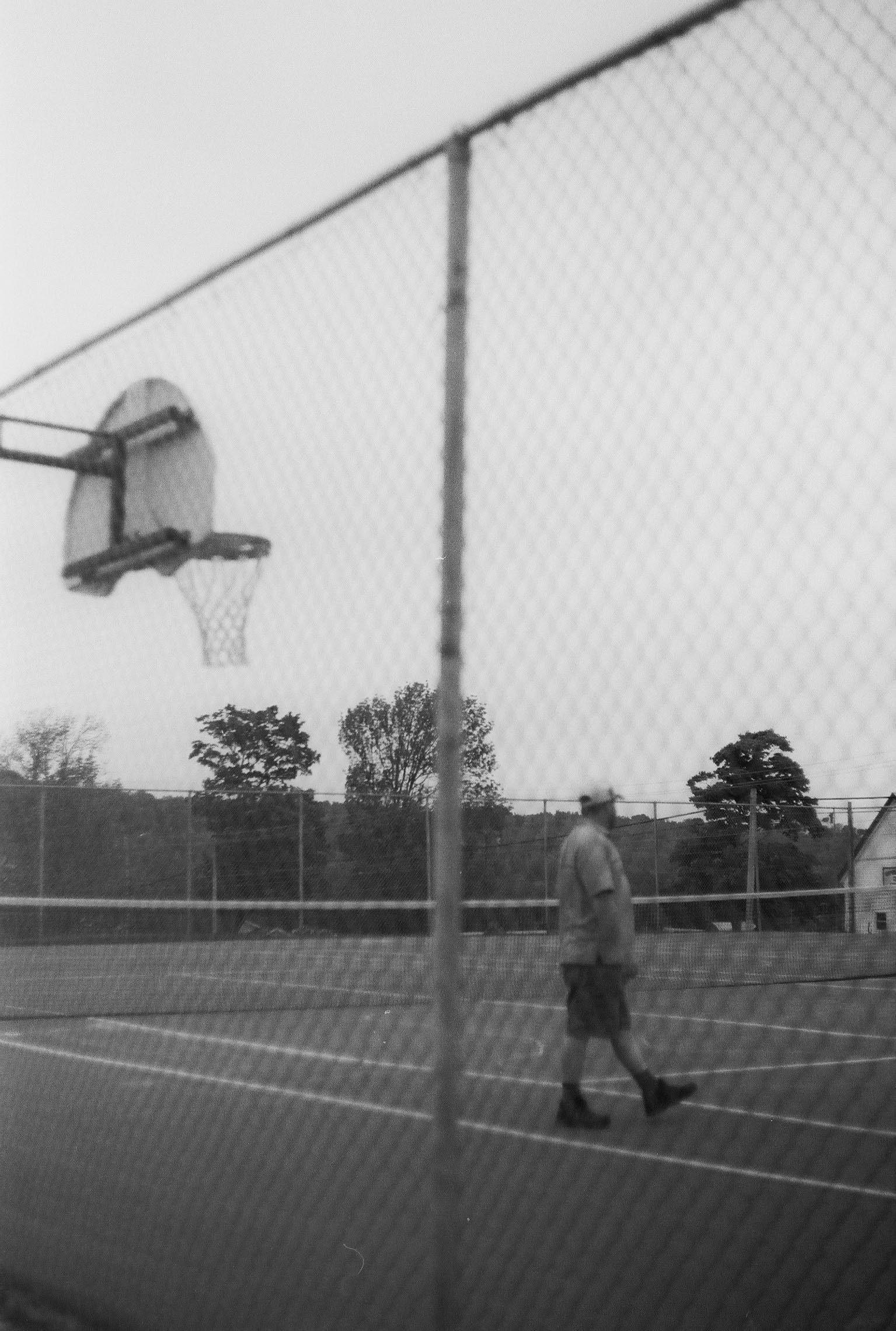 Troy at a basketball court close to his house. May 2016