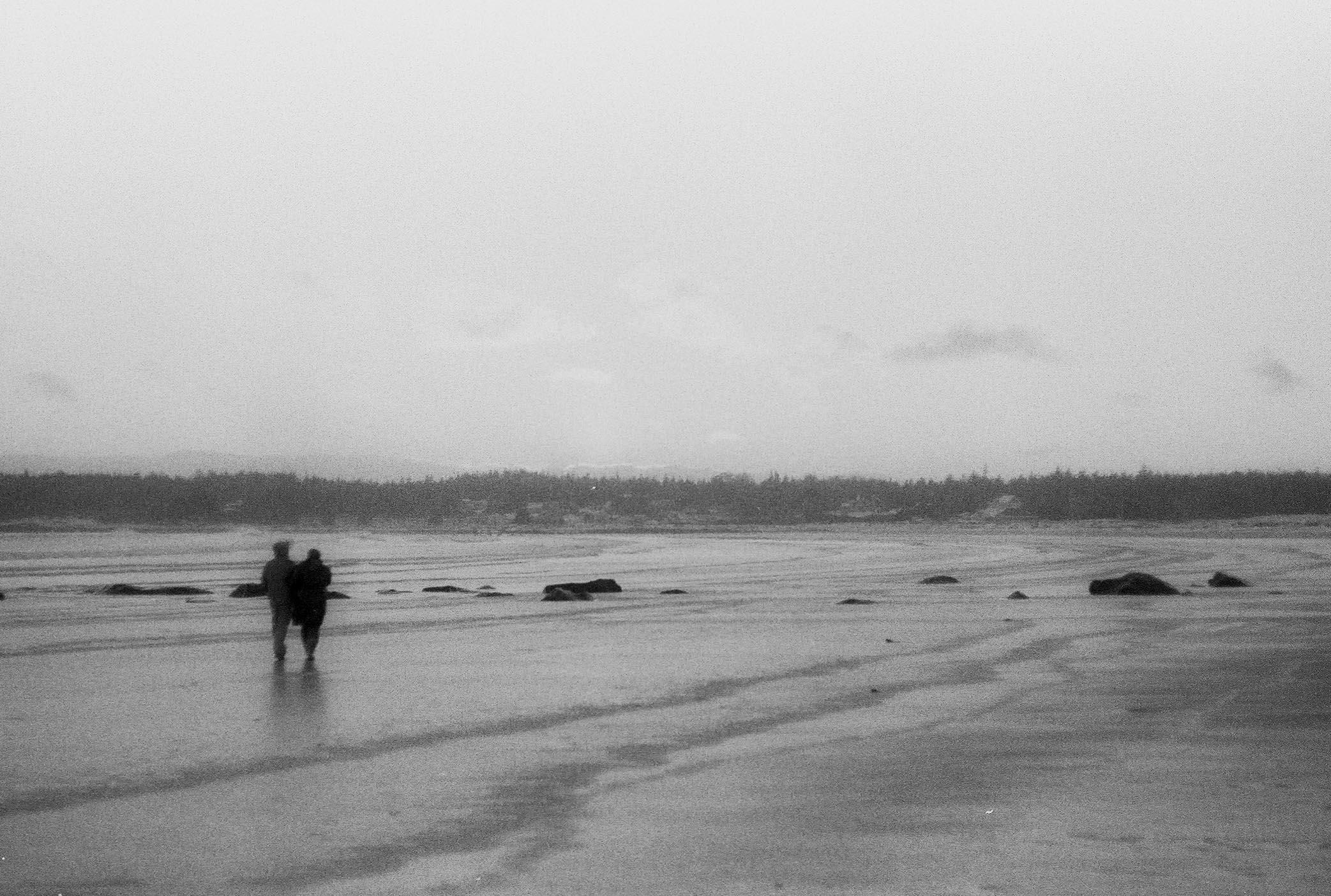 Sandy and Troy walking at Lockeport beach. Valentine's day 2016