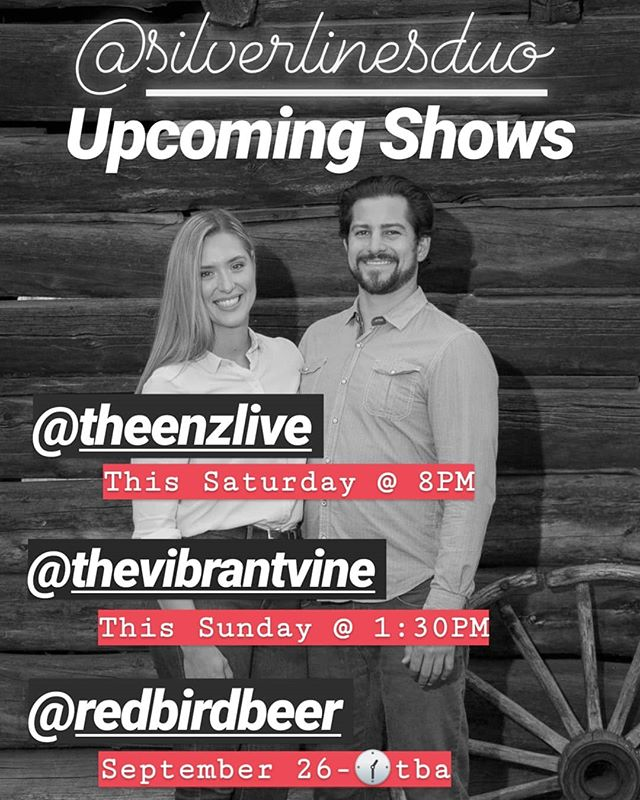 Don't miss your last chances to see @silverlinesduo this summer and please go give our page a follow! @silverlinesduo 👈 We're debuting some new music this weekend and honestly....it's gonna get a little weird. 🧐