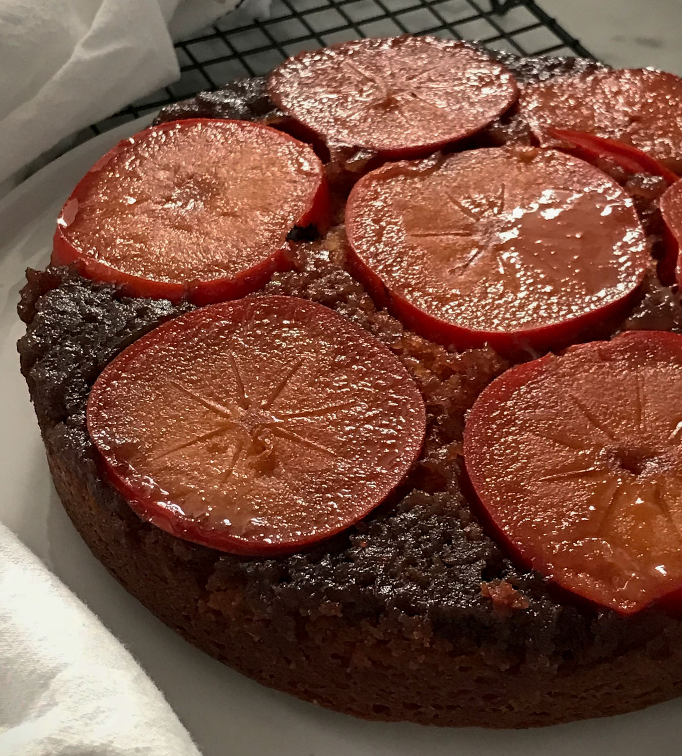 Yummy Close-up of Persimmon Cake Top
