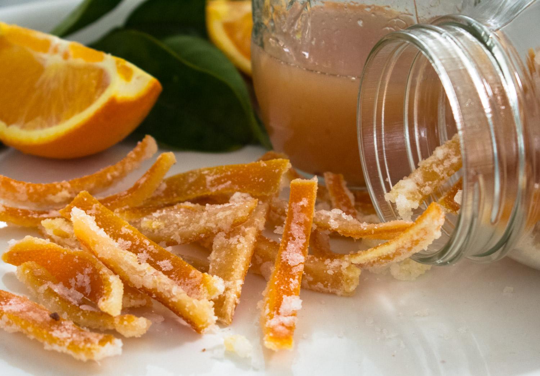 Candied Orange Peel and Orange Sauce