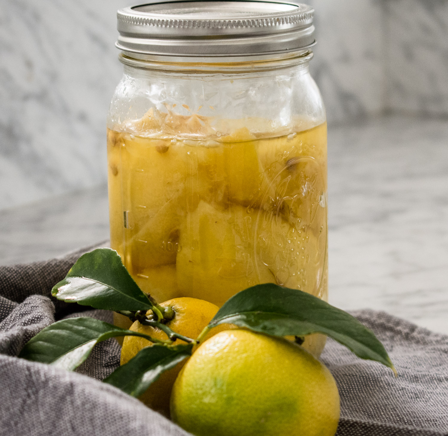 Finished lemons ready to use in cooking.