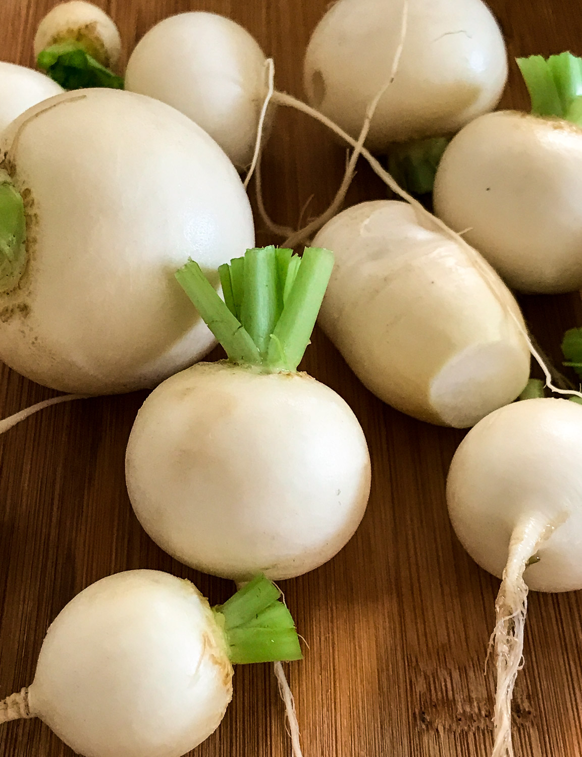 Trimed Turnips