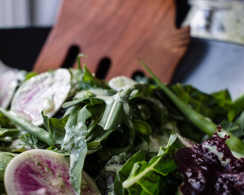 Rooted Garden Salad closeup.