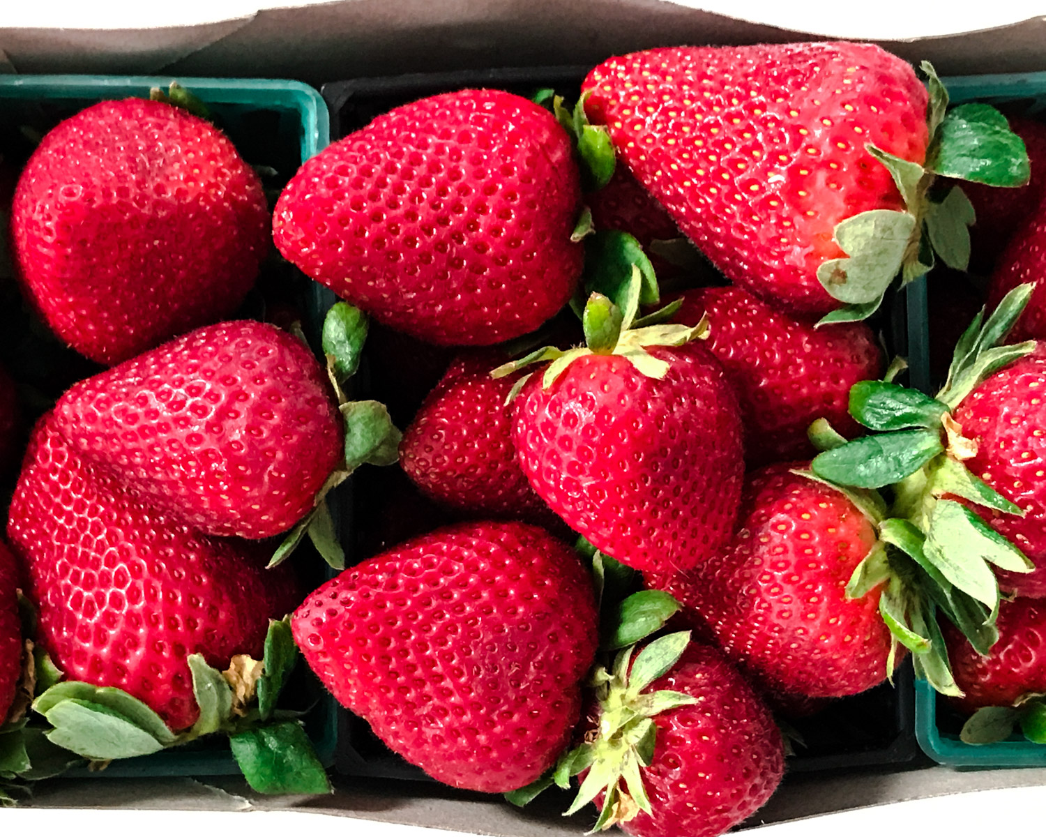 Fresh strawberries from our local farmer's market.