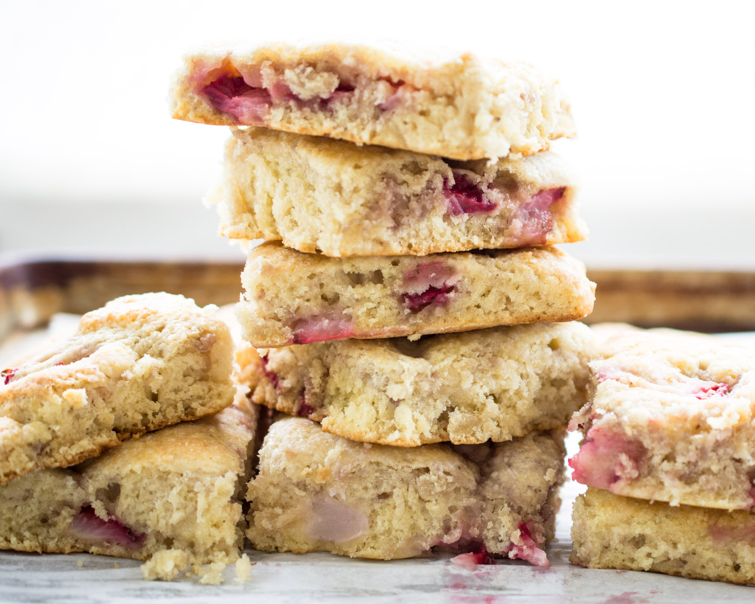 Strawberry biscuits piled high!