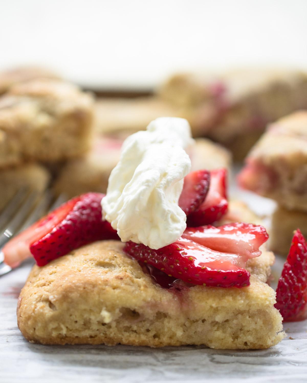 Grandmother's Strawberry Shortcake - ready to eat.