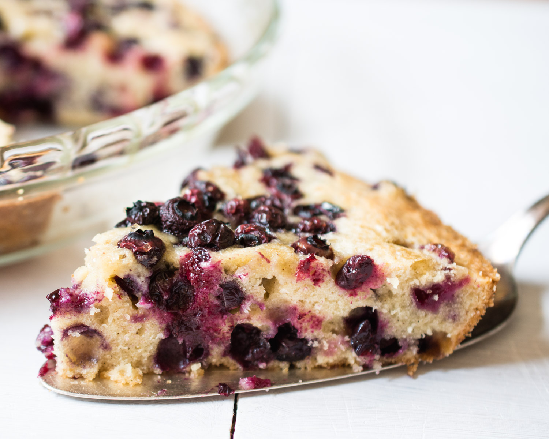 No Crust Blueberry Pie slice.