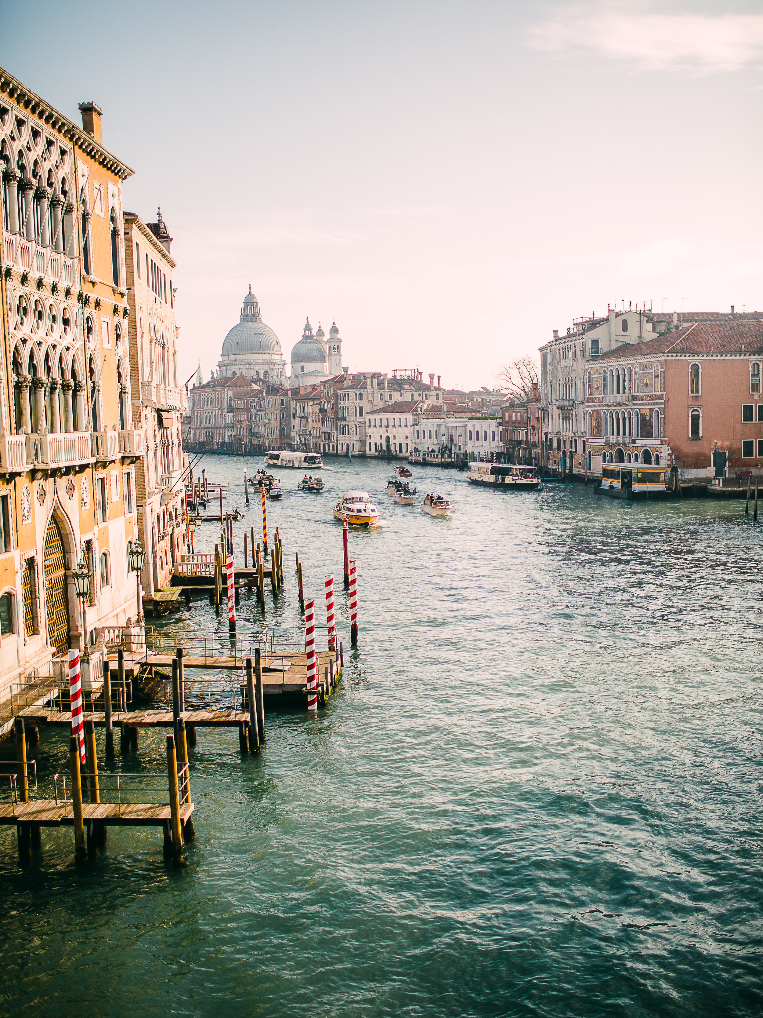 View from Accademia Bridge in Venice