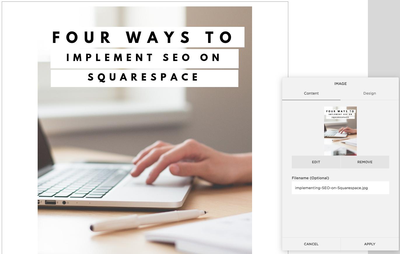 Squarespace | SEO | Image Alt-text | Seo and Squarespace