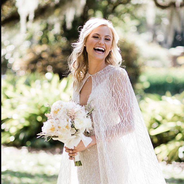 The joy of the wedding day is so incredibly special. This beautiful smile says it all! 💕
