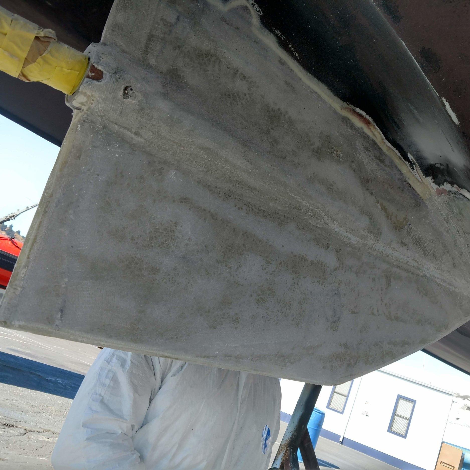 Fiberglass Skeg Rebuild - A damaged skeg is removed and rebuilt from scratch.