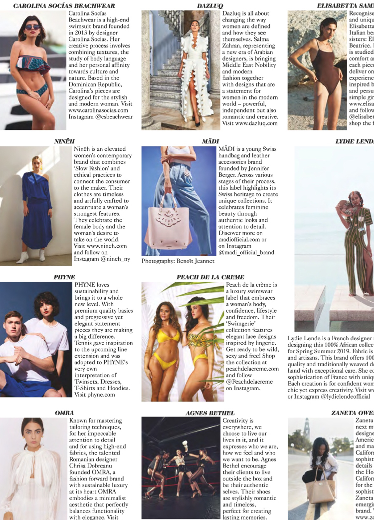 Mädi takes a new step and crosses Swiss borders to get into British Vogue's magazine pages. -