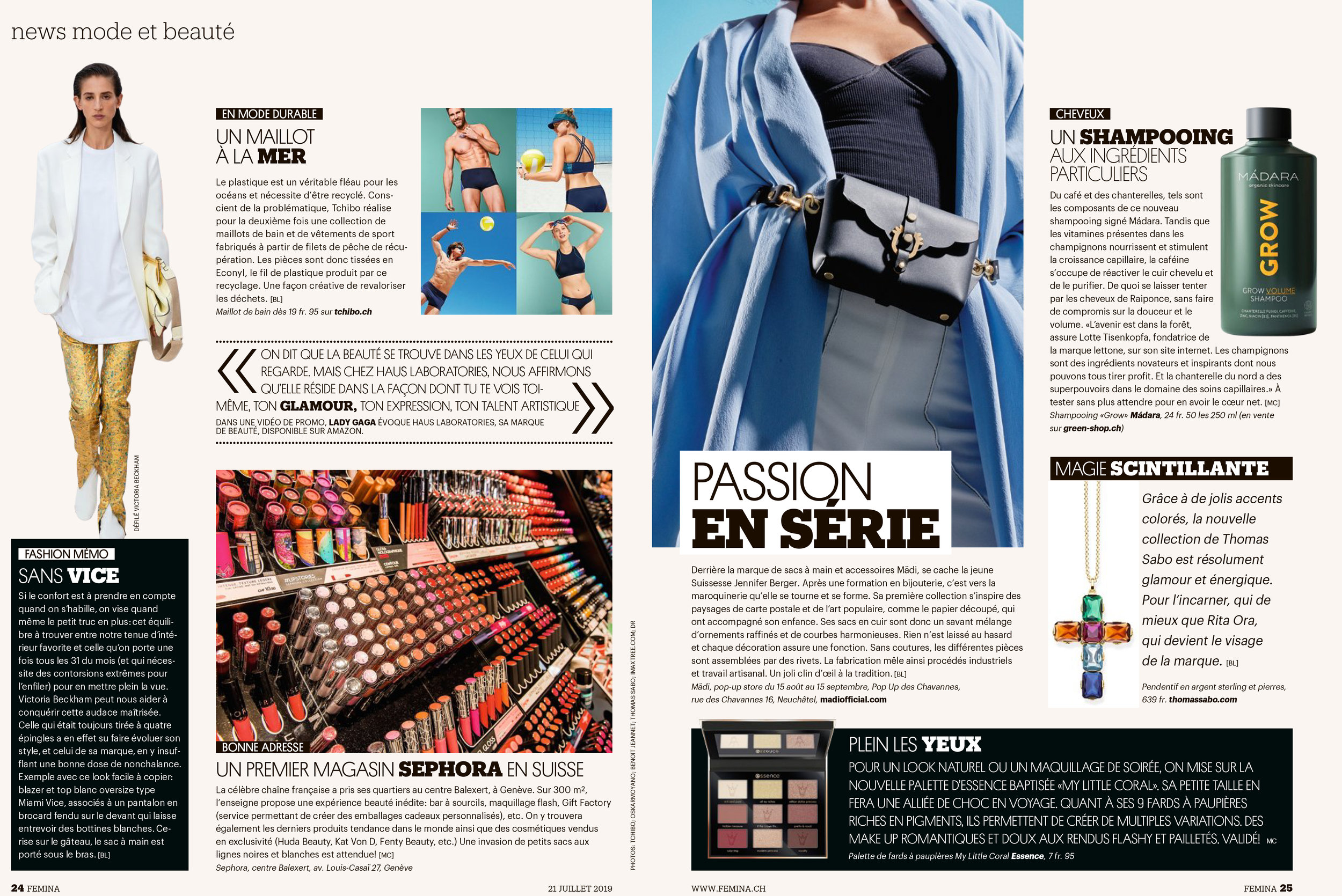 In the Swiss press… - Femina : 21.07.2019
