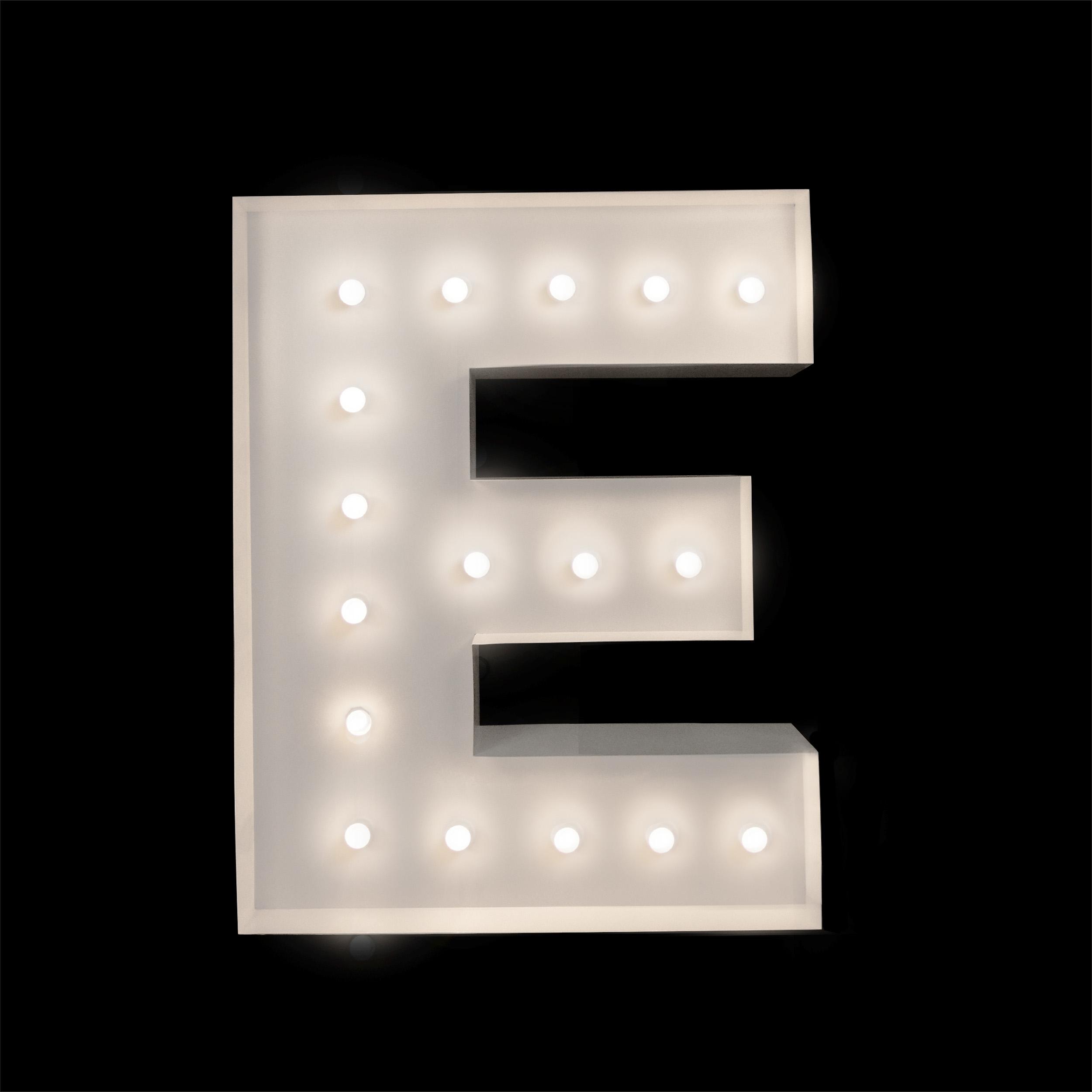 Light Up letter E - Letter light hire Brisbane