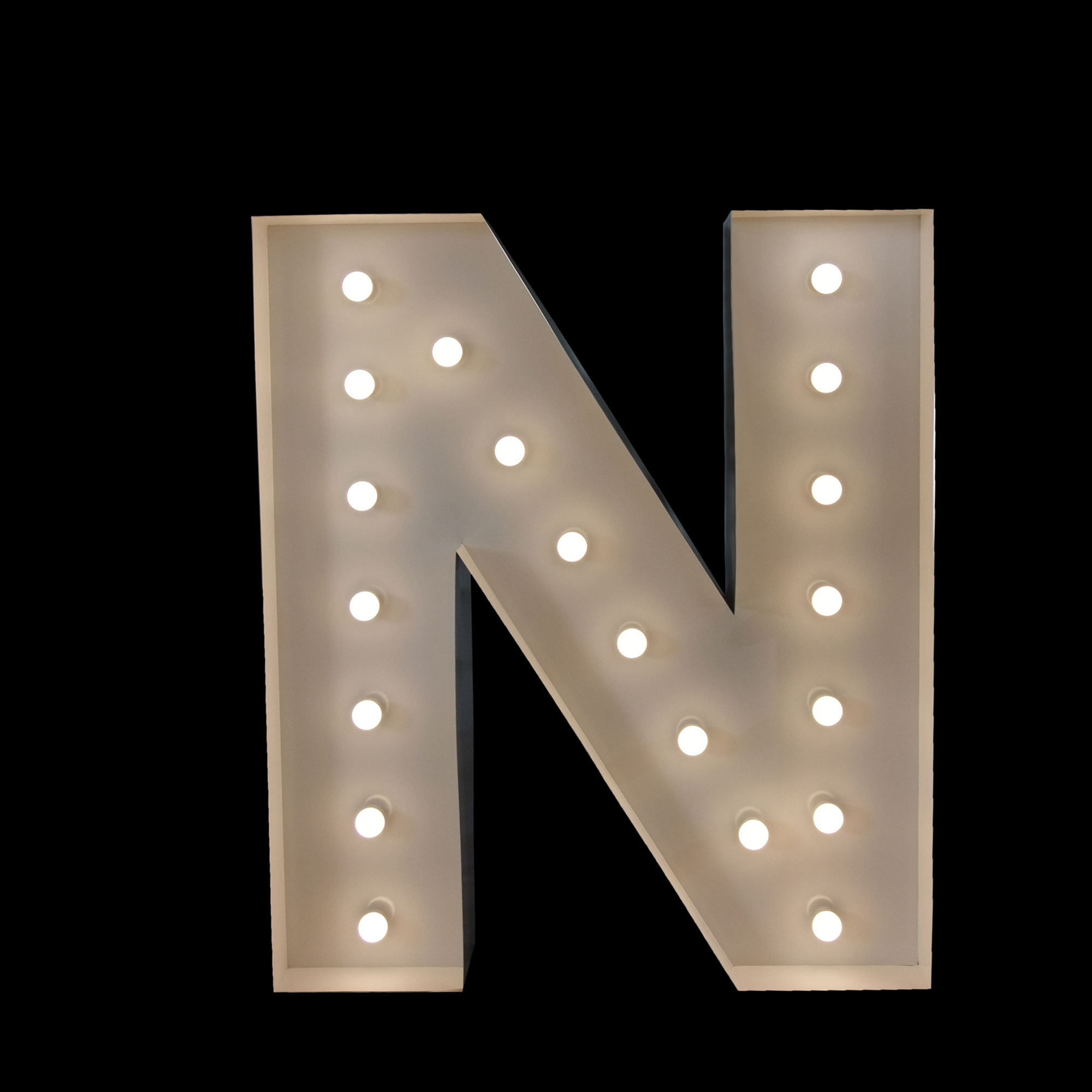 giant letter N - light up letters for events