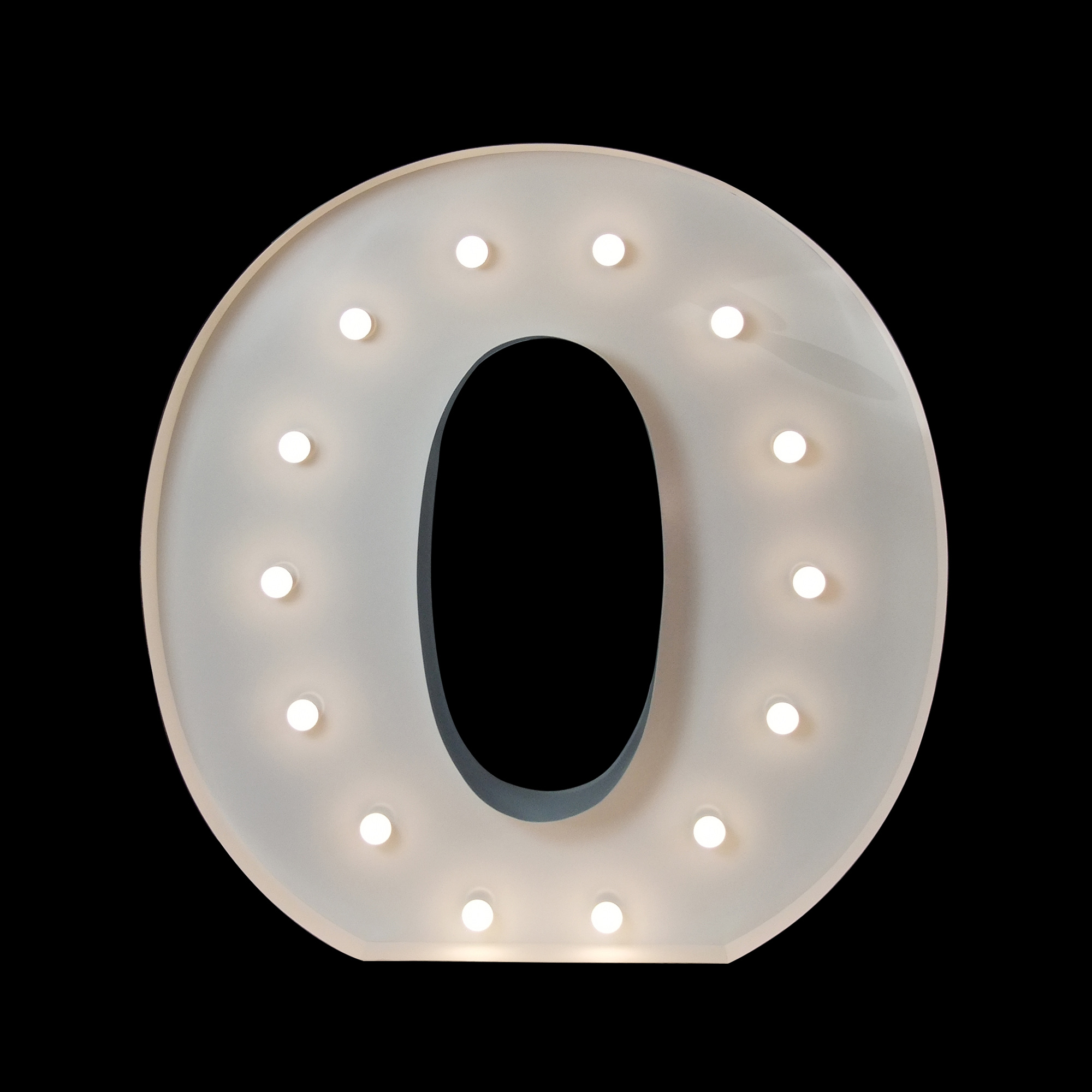 giant letter O for hire - light up letters