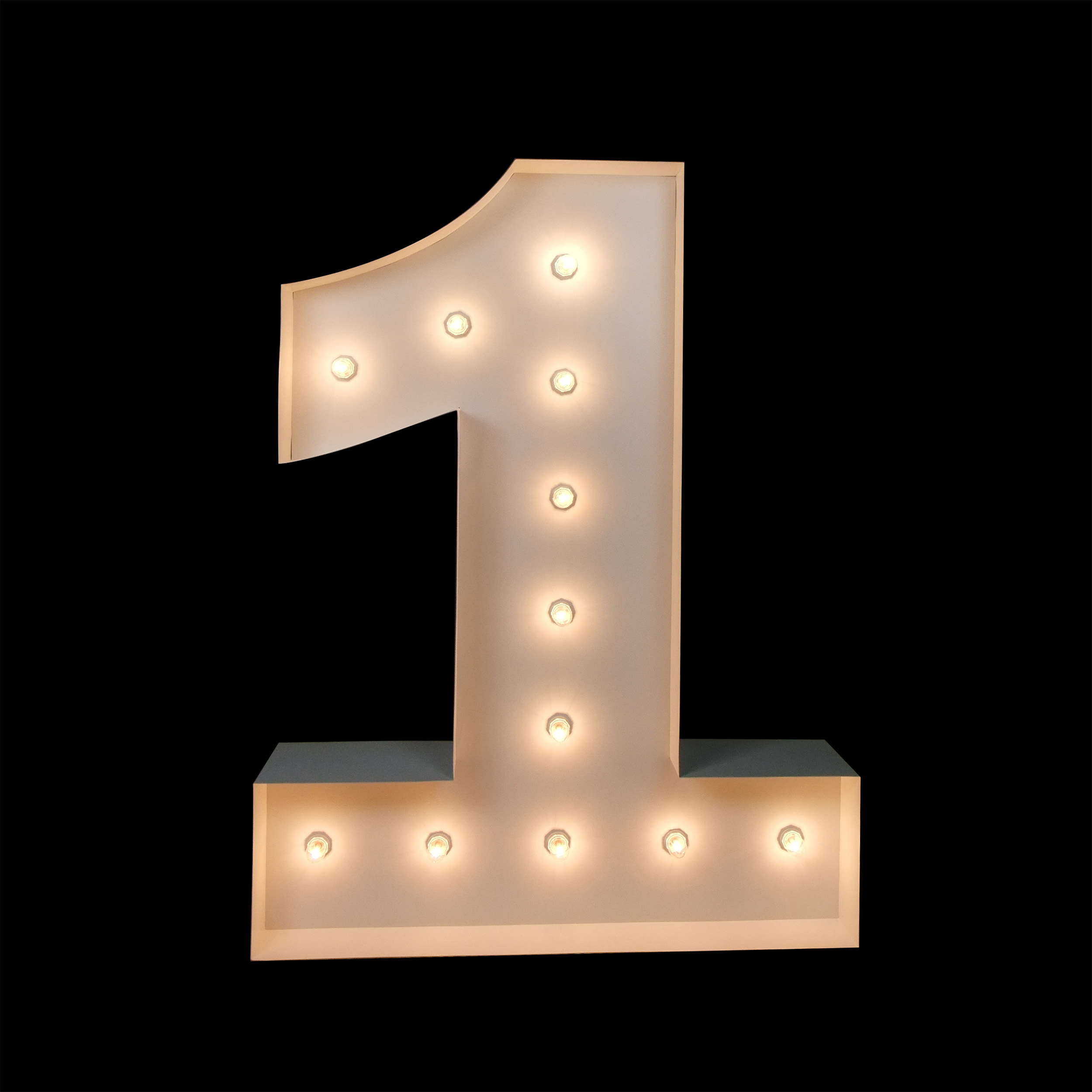 Hire Giant Light Up Numbers - Light Up Letters