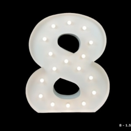 Giant Light UP Number 8 - Hire light up letters