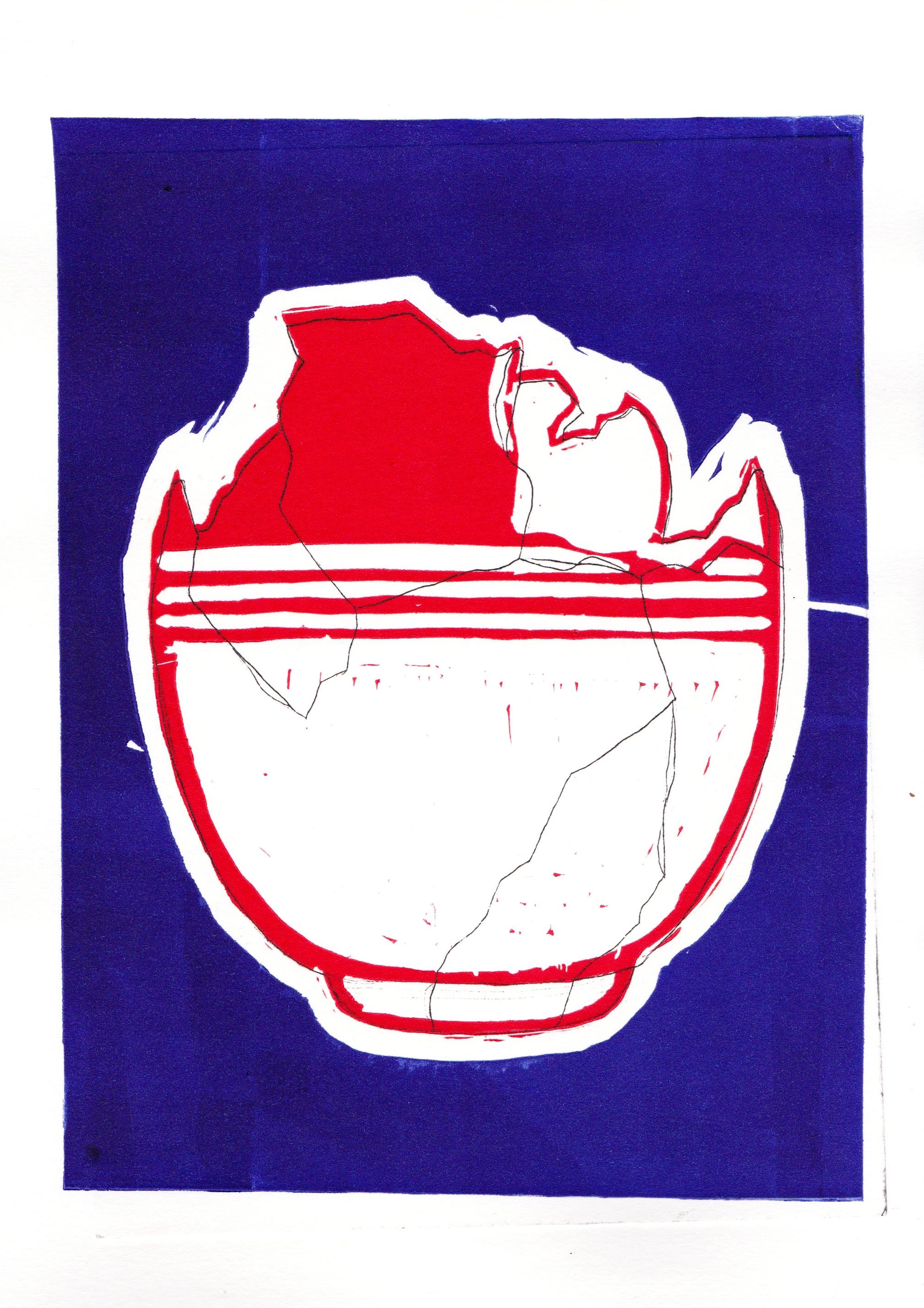 Lino Cut & Dry Point Print