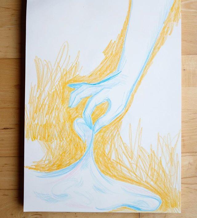 I like colour pencils now.✏️ •  #illustrationart #illustragram #drawing🎨 #colourpencils #illustration