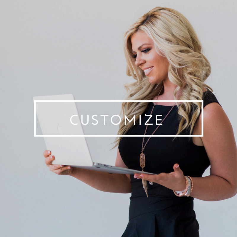 CUSTOM SITE - This is what we like to call the 12 day website! You send me your fabulous logo with branding and I take it from there. In just 2 business week you will have a custom site that will take your biz from bland to beautiful!$3,000+