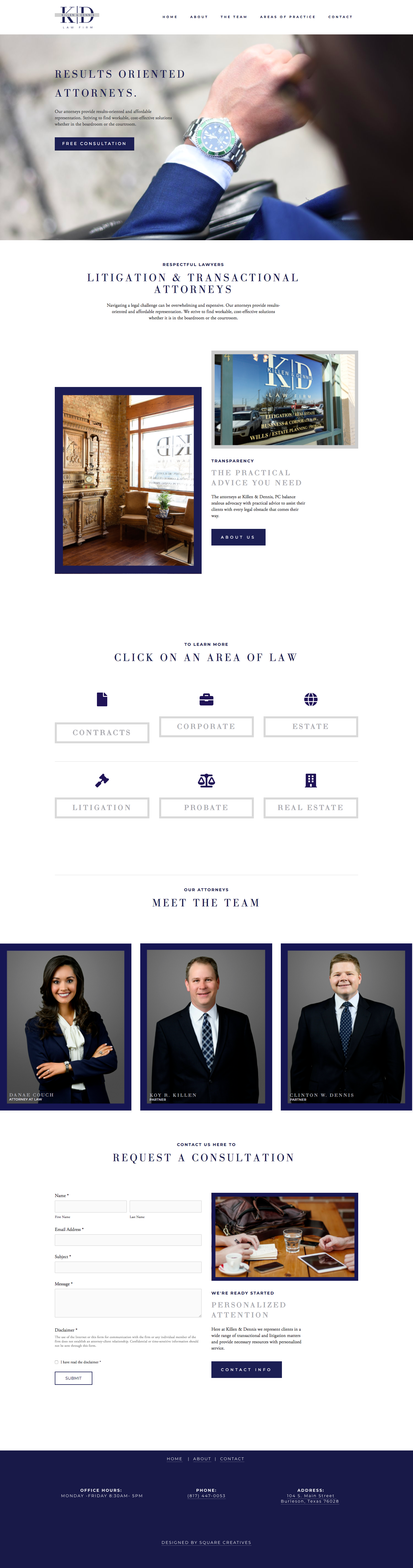 Squarespace Law Firm Design