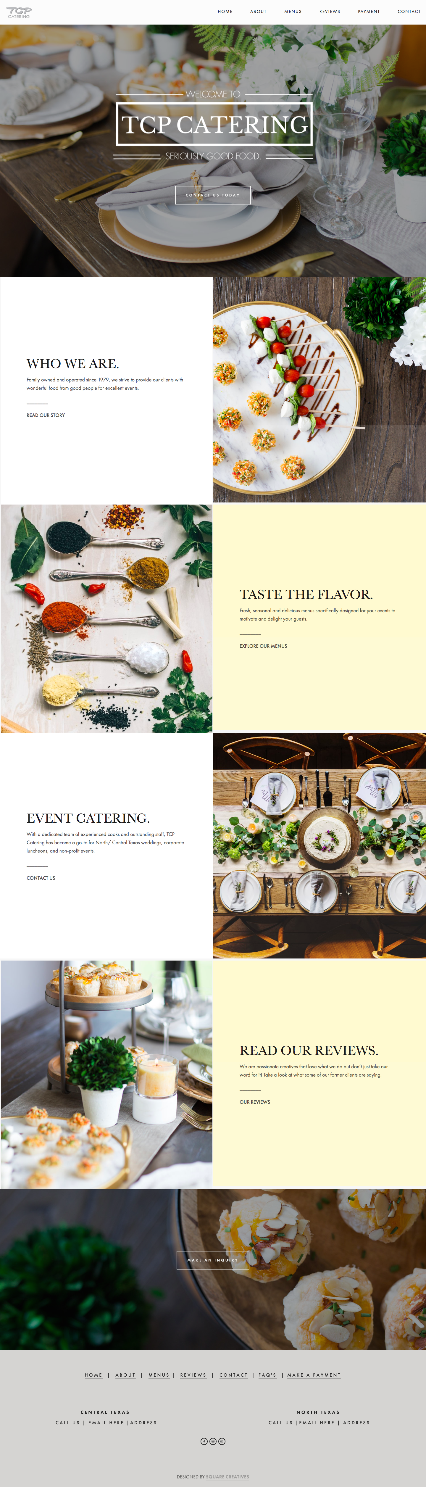 Fort Worth Web Designer Catering
