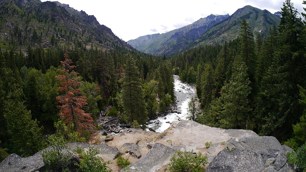View from high up above Icicle Creek. Photo Courtesy of  Thayne Tuason