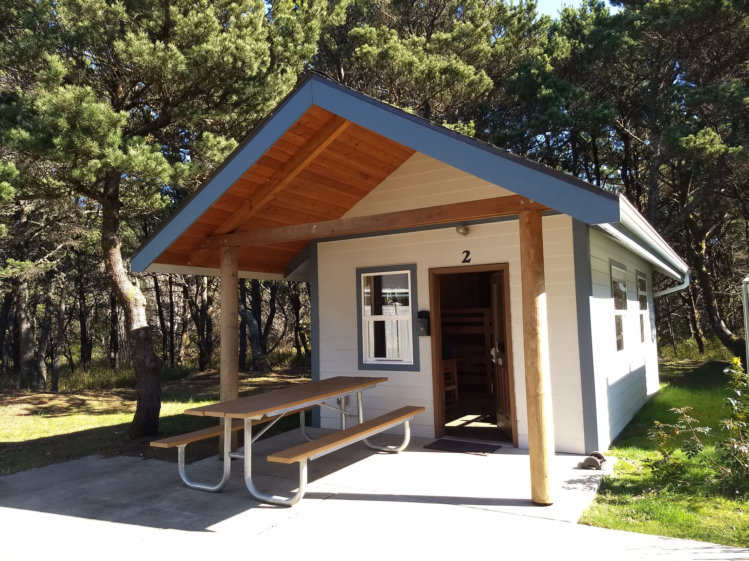 Twin Harbor State Park has five new rustic cabins, plus two yurts, standard campsites, and 42 full hookup RV sites.