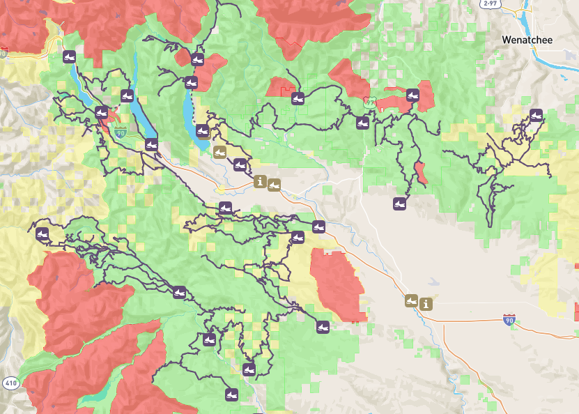 Click to open the Snowmobile WA Web Map