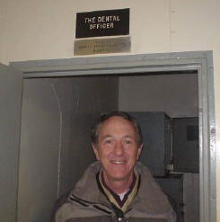 Dr. Chaney is not a dental officer, but here he is touring the dental clinic on the aircraft carrier USS Hornet in Alameda, CA. He visited the museum ship with the Boy Scouts, and just had to see the way it used to be done on an  aircraft carrier.