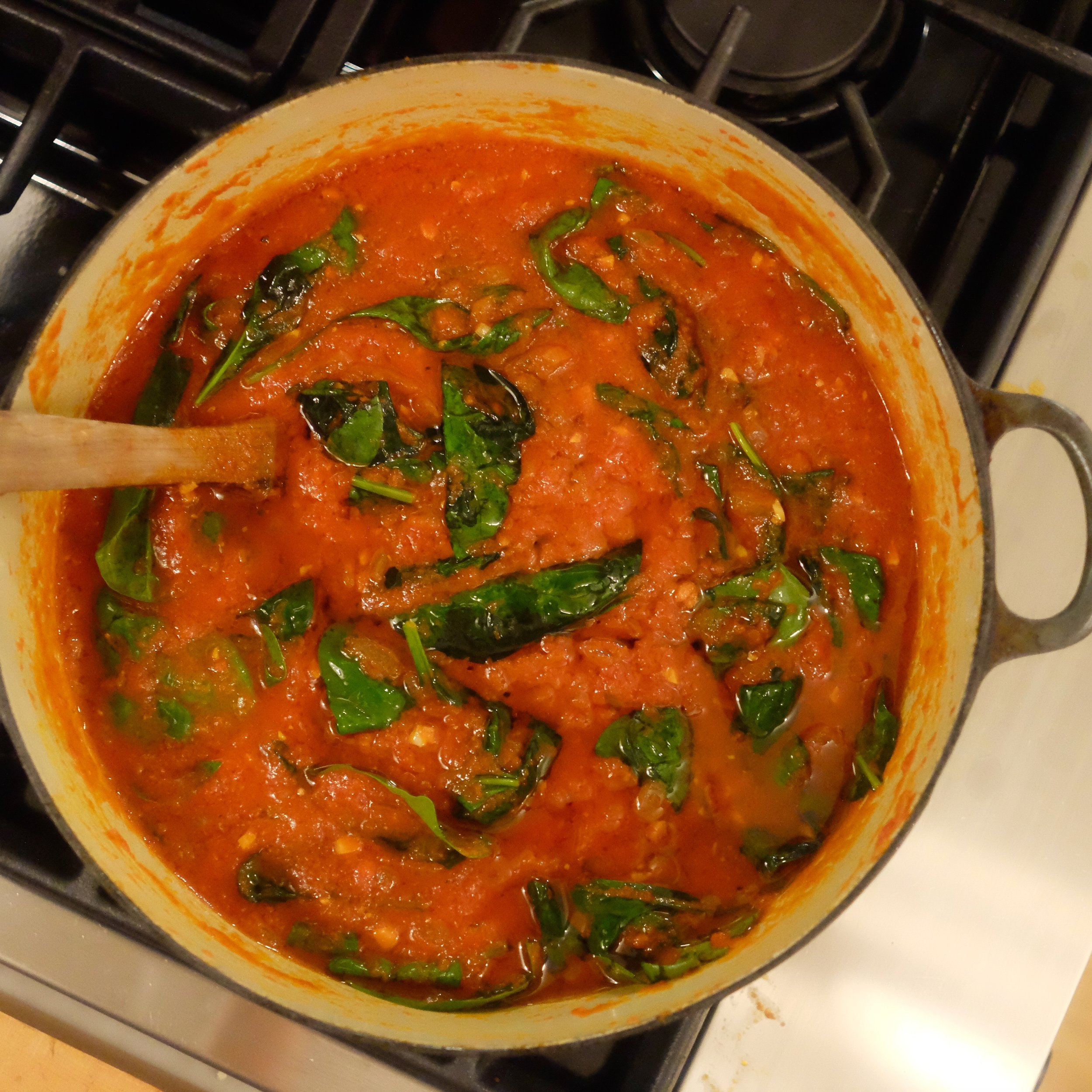 slow cooked tomato sauce