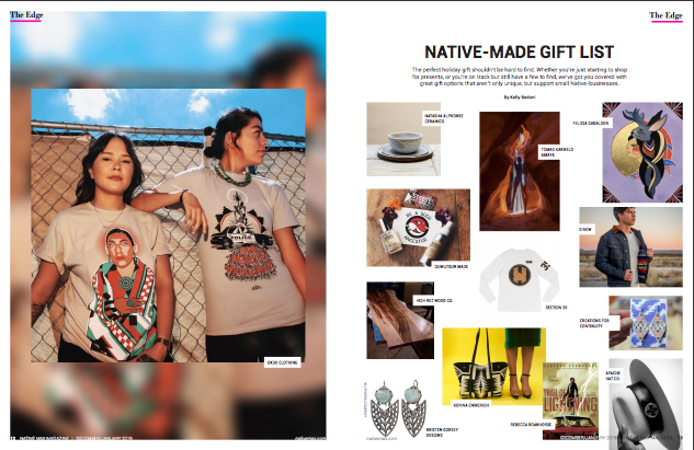 Product feature in Native Max Magazine - Dec/Jan 2019 Issue -