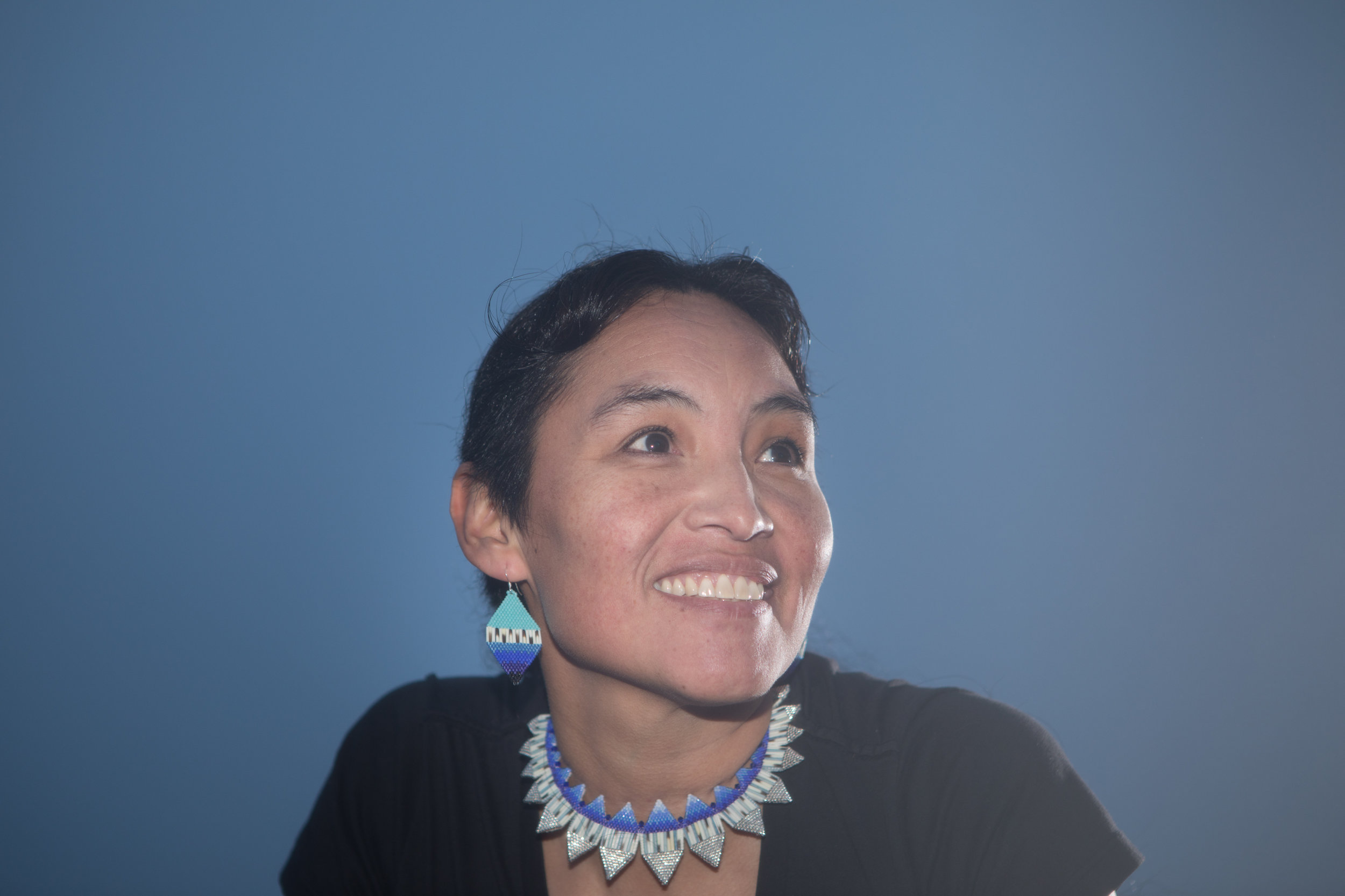 Jewellery: OceanBite Necklace, Shield Earrings. Photo courtesy of Melody Charlie