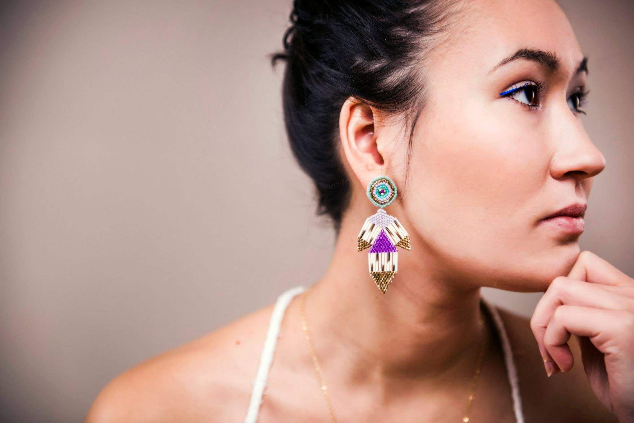 Jewellery: Petal Earrings. Photo courtesy of Angela Gzowski