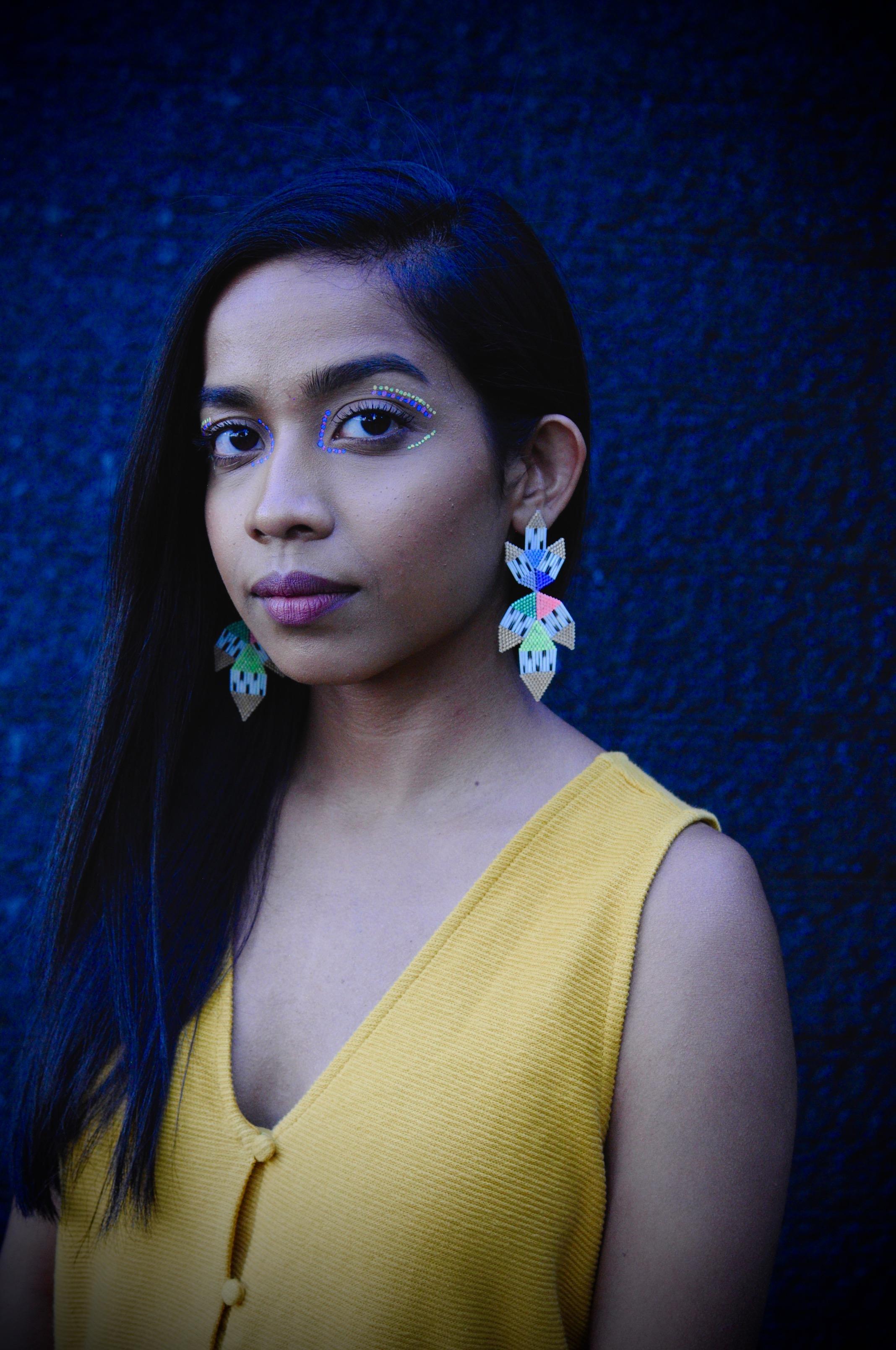Jewellery: Neon Rainbow Earrings. Photo Courtesy of Caroline Blechert