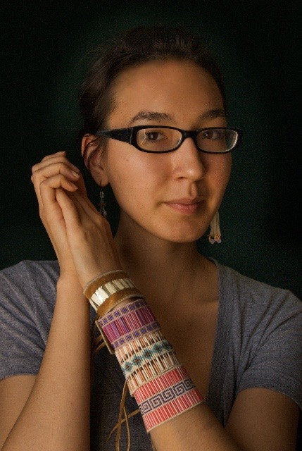 Jewellery Beaded and Quill Cuffs. Photo Courtesy of Tessa Macintosh