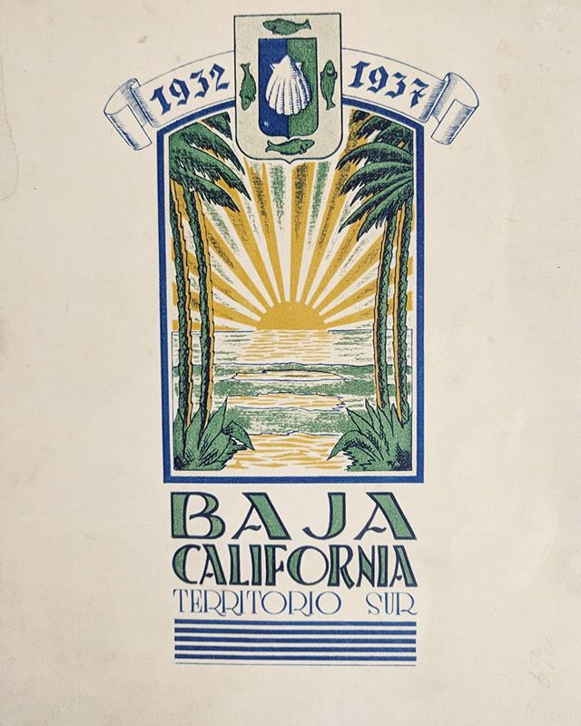 We're in love with our new book all about the history of Baja, published in 1937! Thanks to @blairinmexico for the wonderful gift. Come back and visit soon!