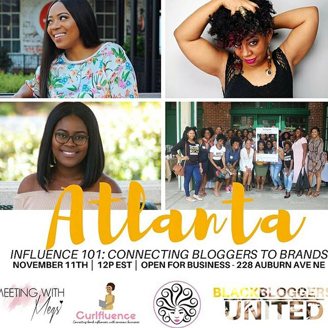@curlfluence ------------------ Our event in collaboration with @blackbloggersunited is officially in TWO WEEKS ✨💕 Be sure to purchase your tickets to Influence 101: Connecting Bloggers and Brands if you're in the Atlanta area! You'll be able to learn how to properly work with brands as an Influencer/blogger + how to position yourself in the industry. Also if you're a brand owner you can gain insight on working with influencers! Our panelists include @meetingwithmegs, @shopfemmenoire, and ourselves 💕. Did we mention we'll have giveaways, goodie bags & refreshments too?! Link to purchase tickets are in our bio 👆🏾 Act fast before they sell out! #Curlfluence #Blackbloggersunited #ShopFemmeNoire #MeetingwithMegs . #cosmetology #cosmetologyschool #cosmetologist #cosmetologystudent #barber #barberlife # #stylist #salon #hair #hairbiz #spa #esthetician #entrepreneur #business  #nailart  #nails #makeup  #makeupartist  #beautyandstylecreatives #beauty  #thesavvylifestyle #nails #nailart #barberlove #blackhair #curlygirls #natural #curls