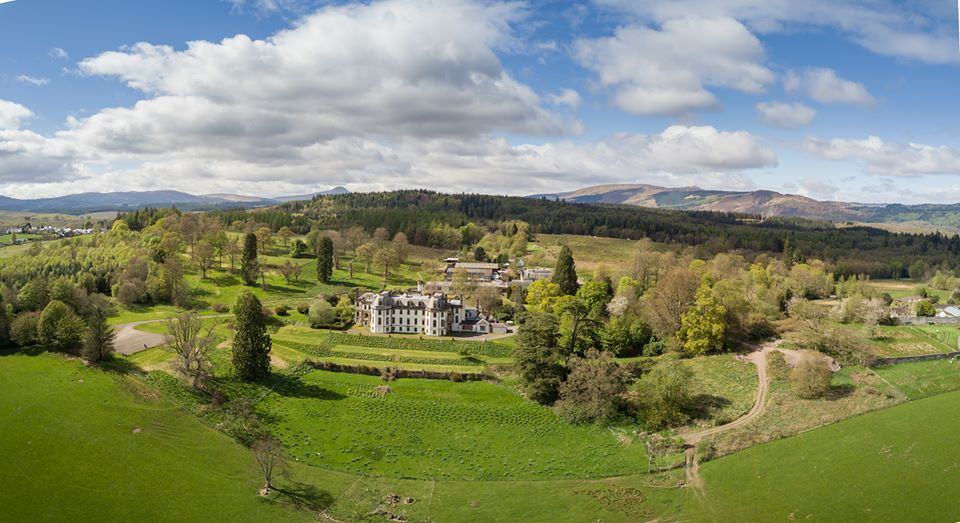 The stuninng grounds of Gartmore House