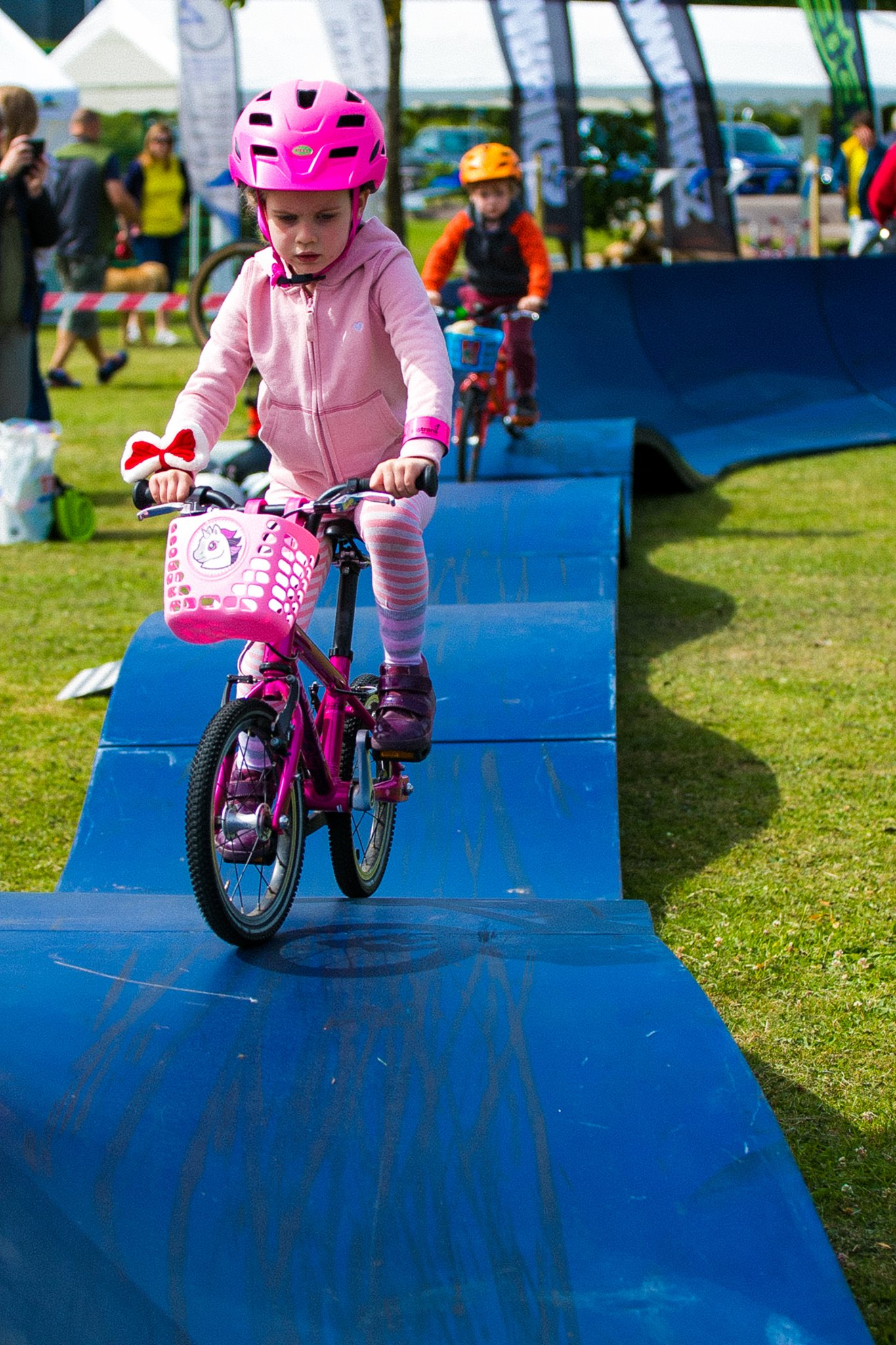 We're bringing an amazing kids pump track to our event this year. Open to everyone free of charge and we'll also have demo bikes for kids and adults available.
