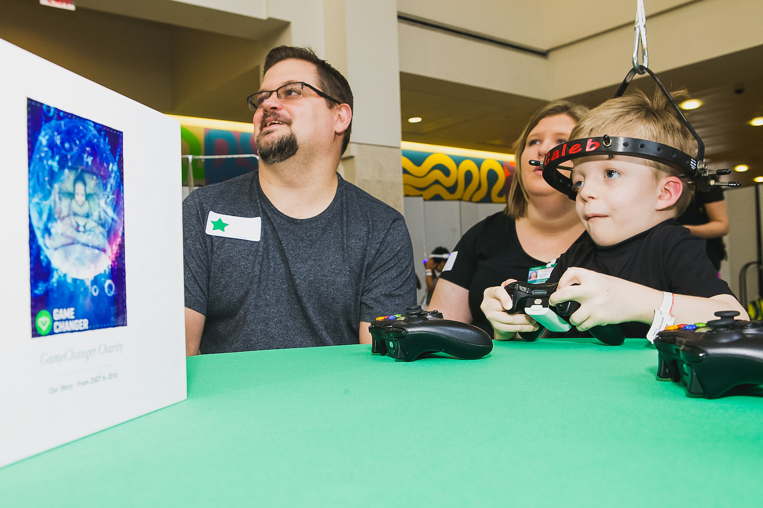 Hospitalized Boy Plays during a GameChanger Charity Video Game Day.jpg