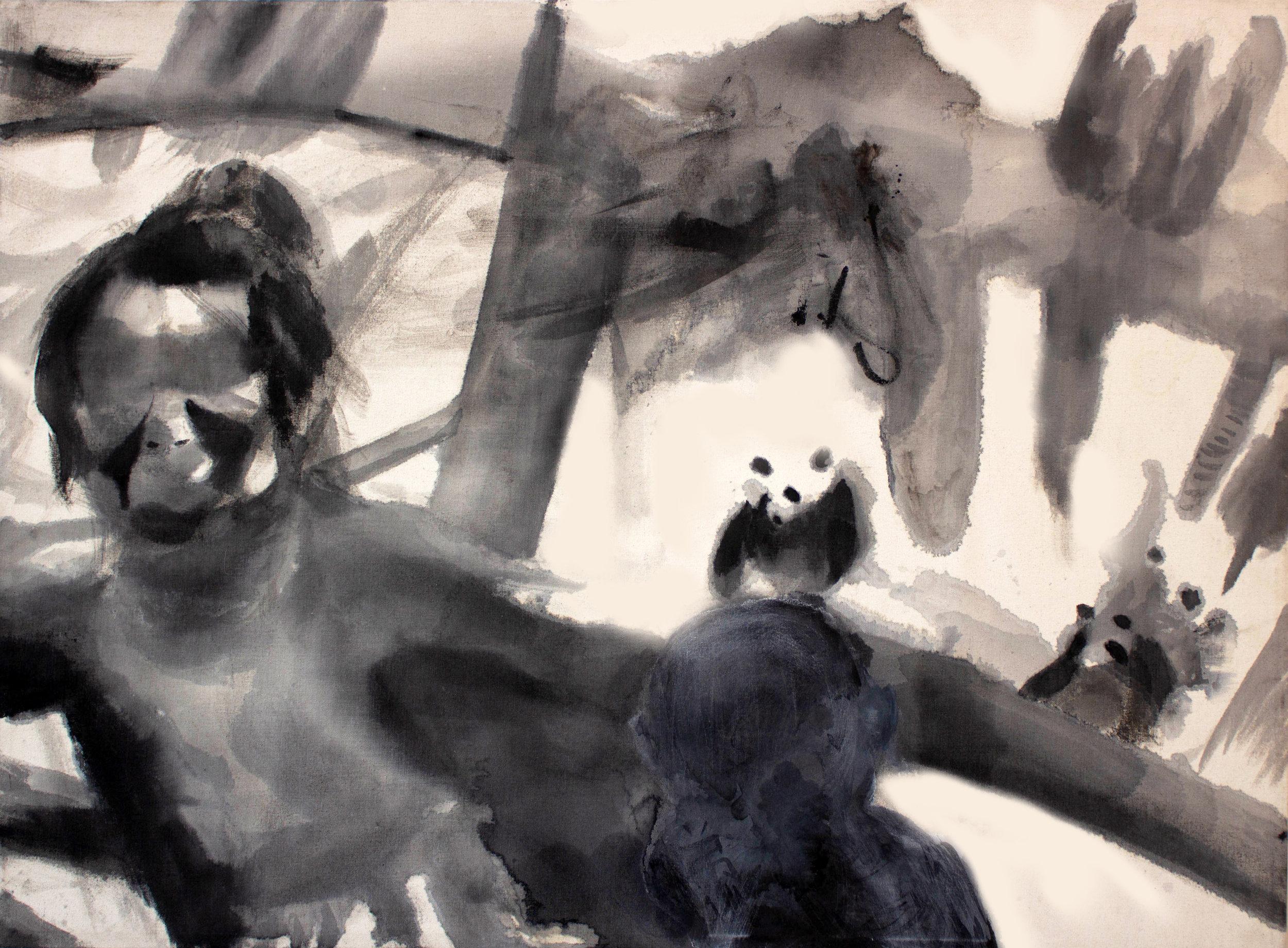 - India ink on canvas3 x 4 feet each2018
