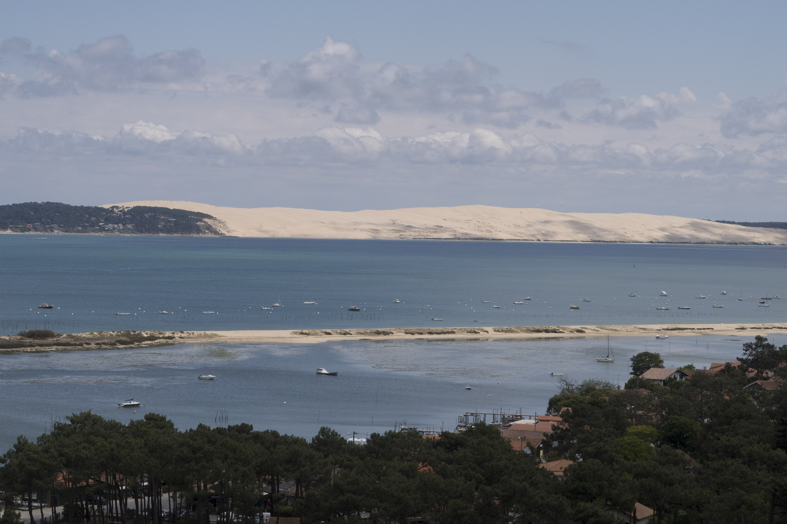 The Dune de Plya as seen from Cap Ferret. We have a day trip there from Arcachon