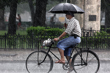 Ride in the rain? Here's one way to go about it...we think there's probably a better way!