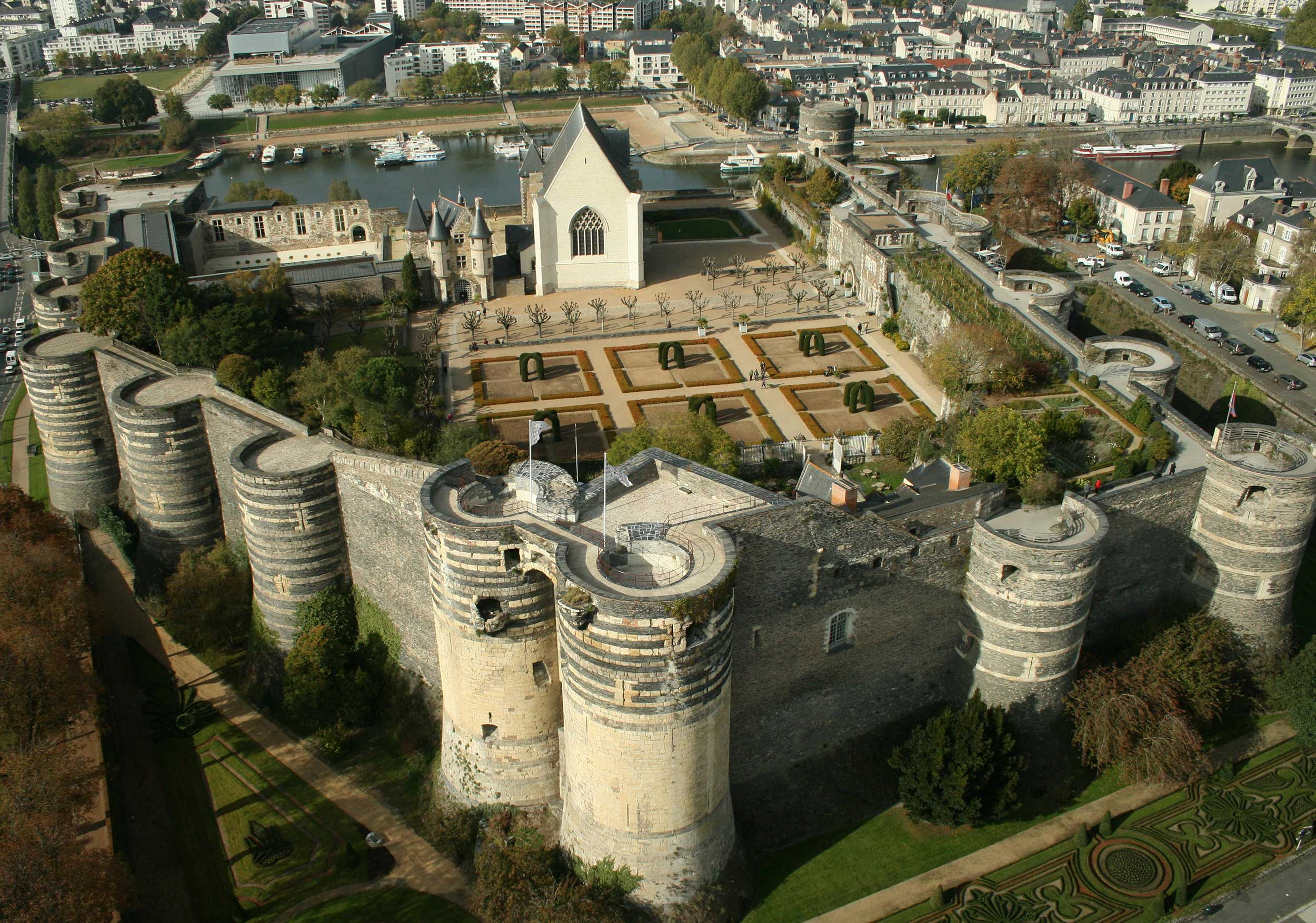 Chateau d'Angers in all it's magnificence